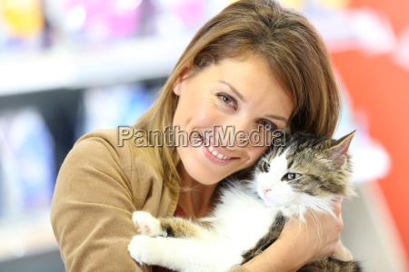 retrato do gato de sorriso da