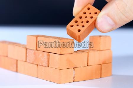 parede simbolos blocos acabamento estrutura construcao