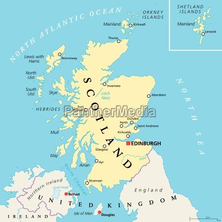 mapa politico independente da escocia
