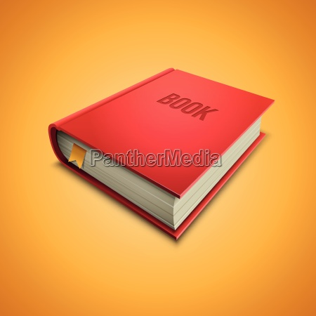 vector illustration of red hardcover book
