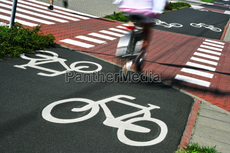 sinal de estrada da bicicleta e