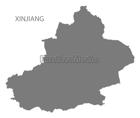 negro china municipio mapa cinza