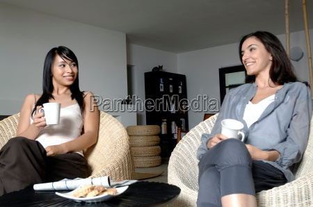 two women having a chat