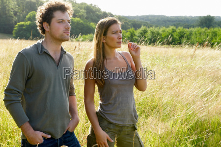 couple in a field