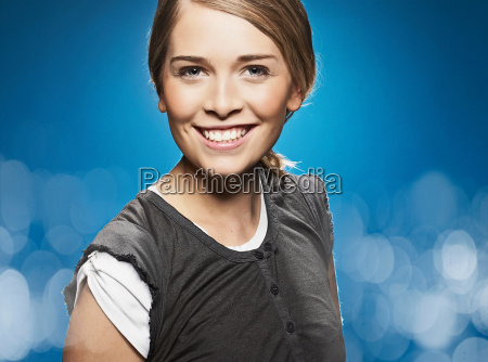 close up of smiling girls face