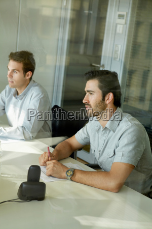 two men in business meeting