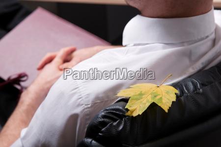 escritorio secretaria folha close up relaxamento