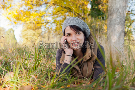 woman talking on cell phone in