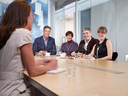 group meeting in boardroom