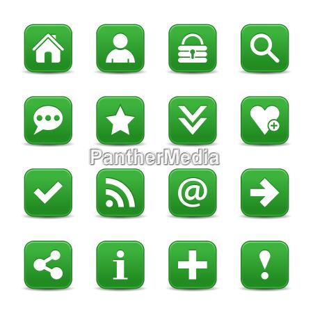tecla verde do web do icone