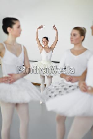 woman in ballet costume dancing