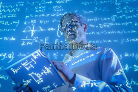 azul calculo grafico ciencia pesquisa futuro