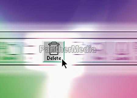 tecnologia arquivada cesta de lixo ninguem