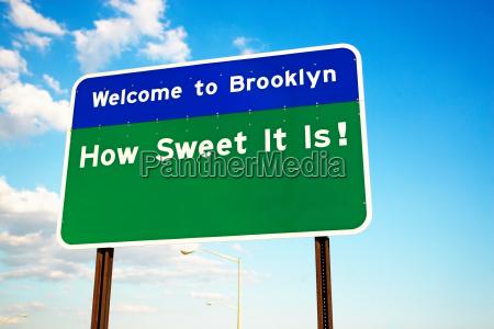 bem vindo ao sinal do brooklyn