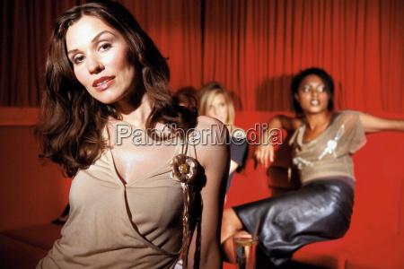 portrait of a women in nightclub