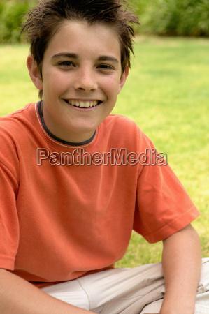 young, boy, smiling, at, camera - 18779386