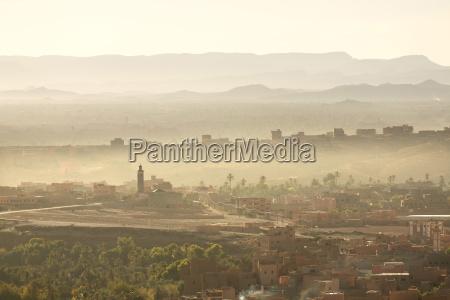 vista sobre a cidade de tinerhir