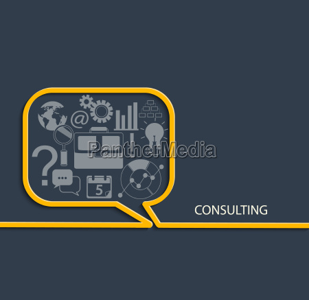 set of consulting icon