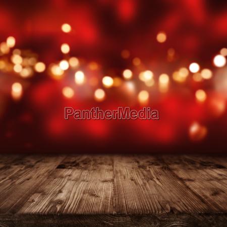fundo vermelho com luzes douradas