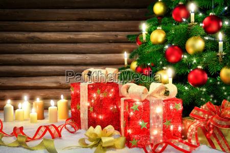 elegante decoracao para o natal com