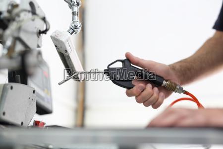 facilidade de producao limpeza da maquina