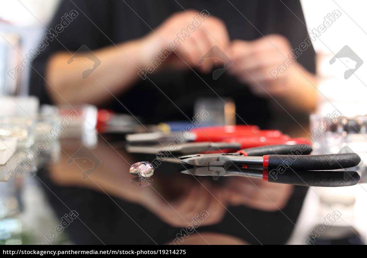 oficina, de, joalharia., ferramentas, do, joalheiro. - 19214275