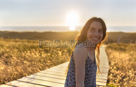 portrait of a young woman at