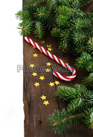festive, decorations, with, candy, cane - 19410874