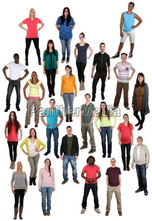 pessoas pessoas grupo multicultural em pe