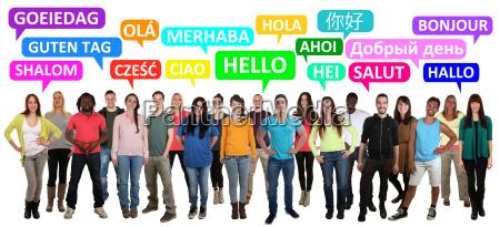 hej god dag multikulturelle menneskermaend gruppe