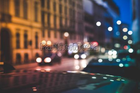 busy road at night milan italy
