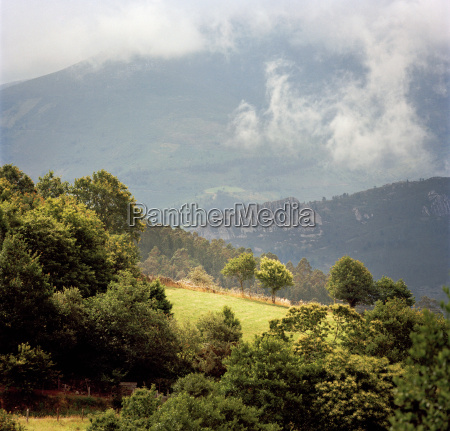 mountainous landscape in the rural countryside