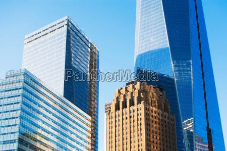 modern skyscrapers in manhattan new york