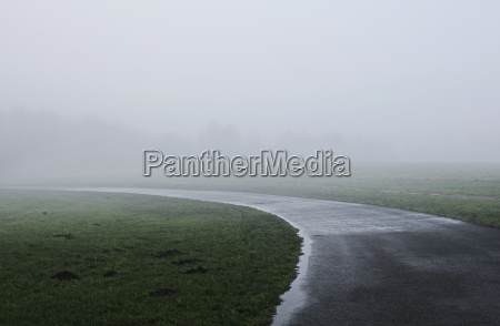 misty countryside landscape