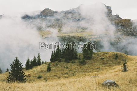 mountain landscape and cloud flaine french