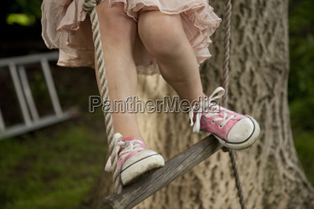 cropped shot of girls legs climbing