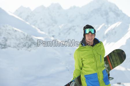 lazer ferias inverno masculino retrato austria