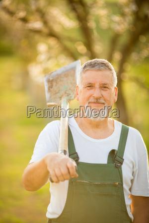 jardim ativo jardineiro bonito homem pessoa
