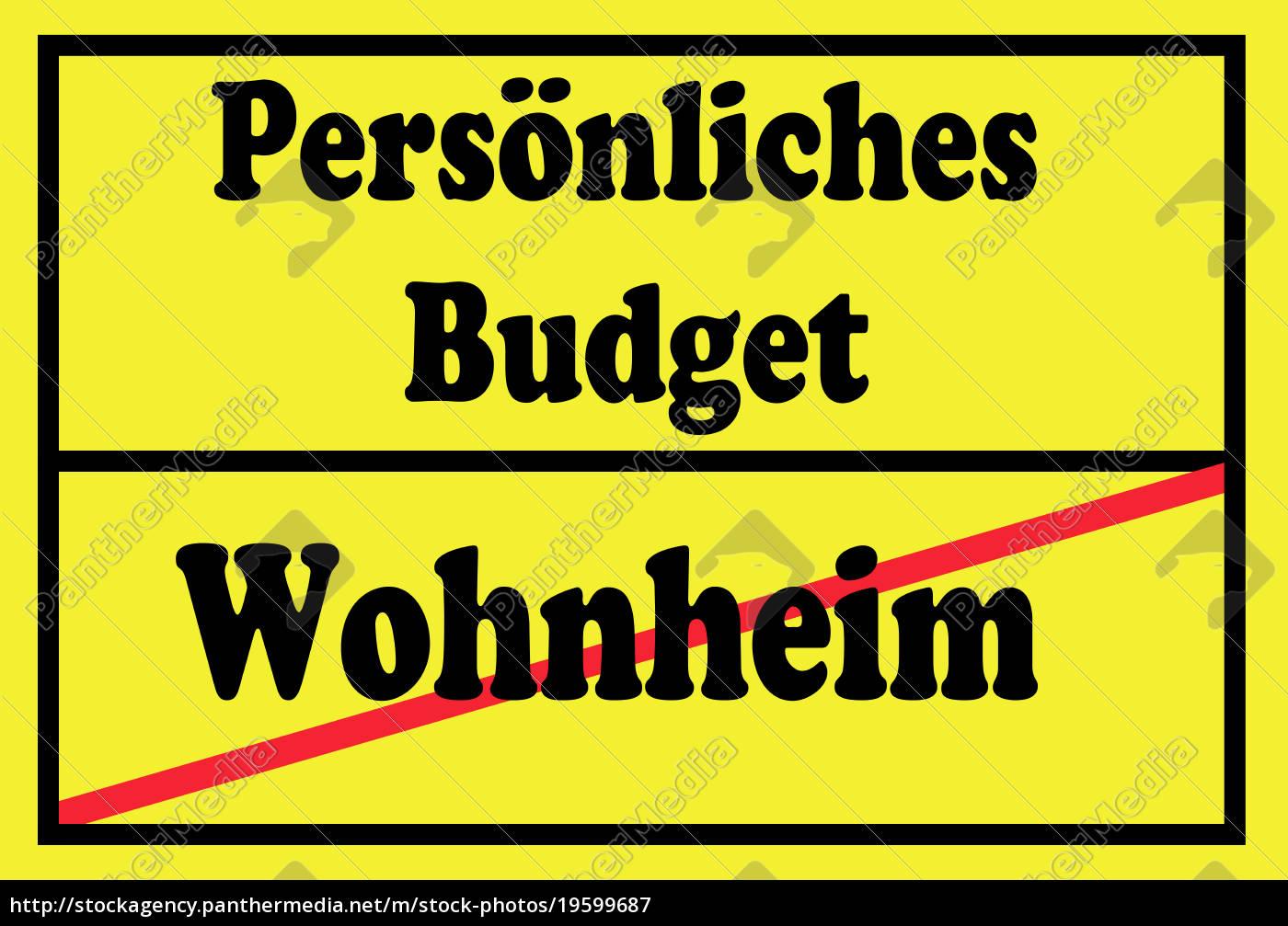 assinar, orçamento, pessoal, e, dormitório - 19599687