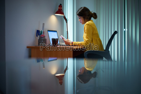 college girl female student studying at