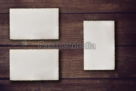 fotos em branco do vintage na
