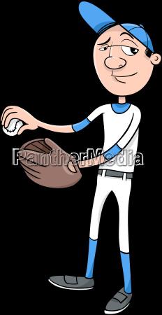 esporte esportes bola luva ilustracao jogador