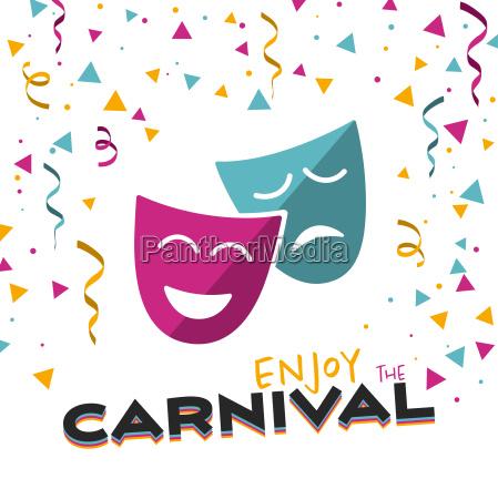 aproveite o carnaval em uma ilustracao