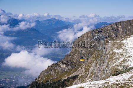passeio viajar horizonte nuvem alpes cupula