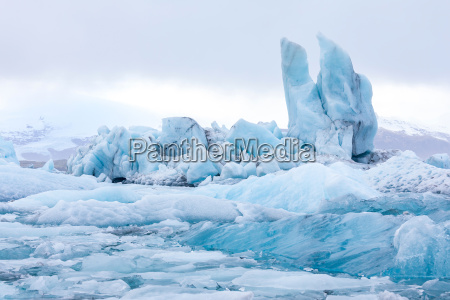 inverno islandia geleira lagoa icebergue neve