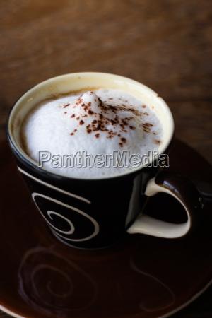 cafe doce estilo de vida refrescar