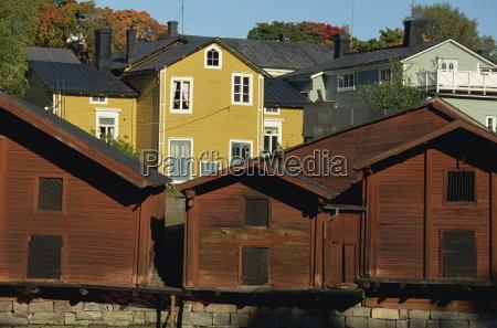 casas cidade madeira europa horizontalmente lugares