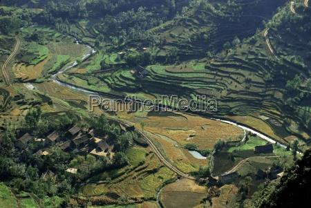 farms and rice paddies shuicheng guizhou