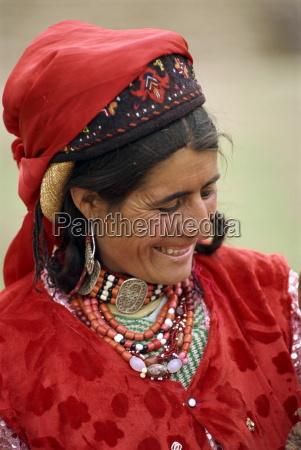 portrait of a tajik woman with