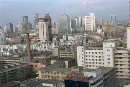 city skyline of the city of